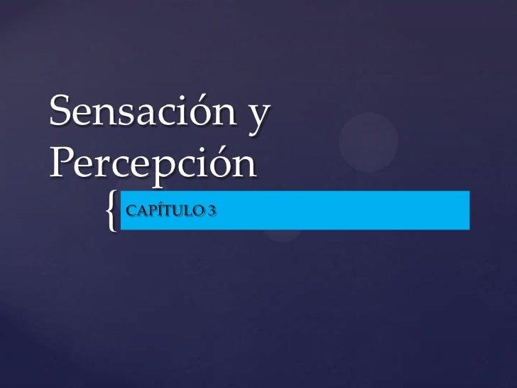 Sensación y percepción 2010