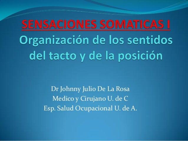 Dr Johnny Julio De La Rosa Medico y Cirujano U. de C Esp. Salud Ocupacional U. de A.