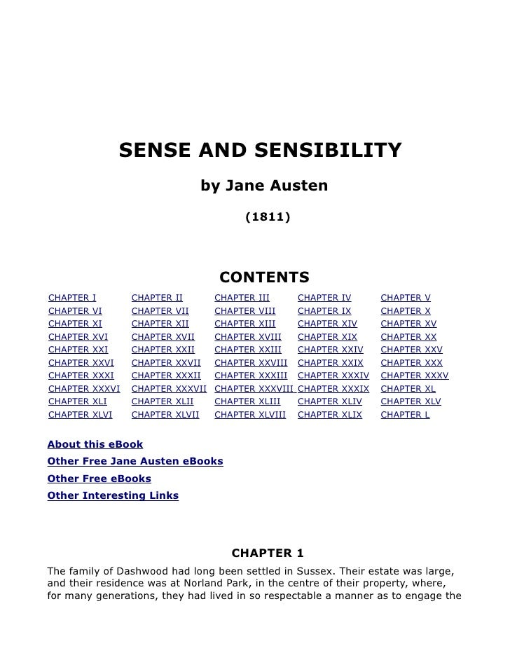 SENSE AND SENSIBILITY                                 by Jane Austen                                           (1811)     ...