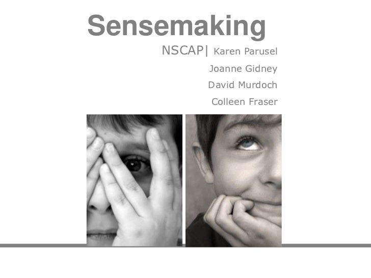 Sensemaking power point cognitive edge project