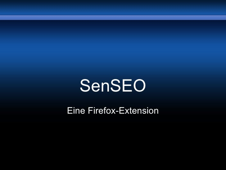 SenSEO Firefox Extension