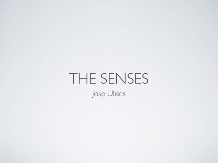 THE SENSES  Jose Ulises