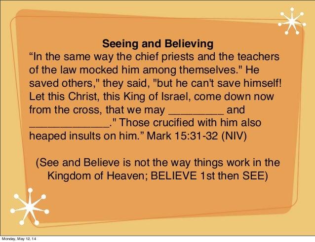 Faith and your Senses
