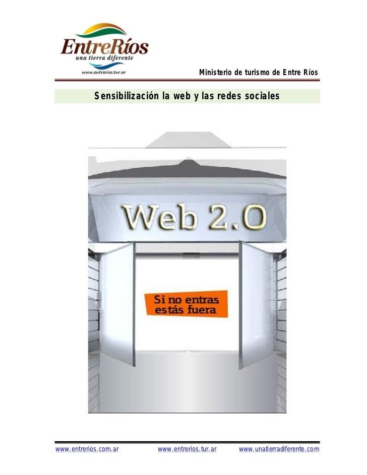 Sensibilización la web y las redes sociales