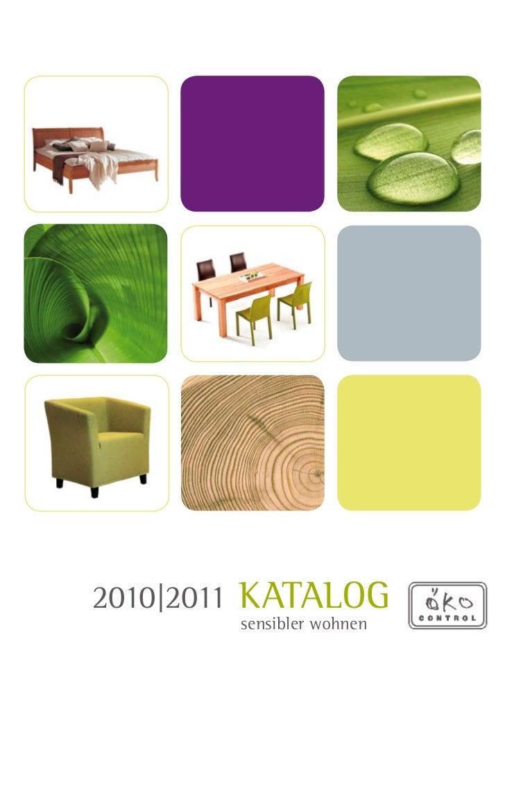 2010|2011 Katalog        sensibler wohnen