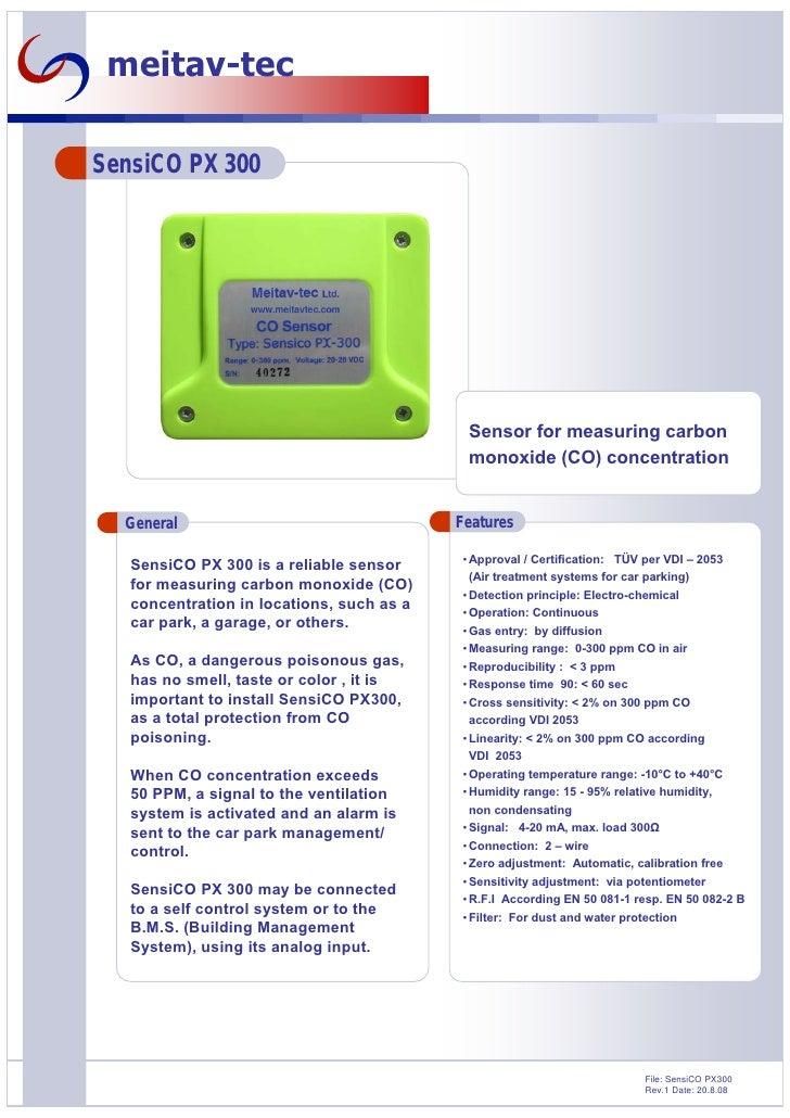 Duyar Elemanlar Sensi co px300-co-sensor