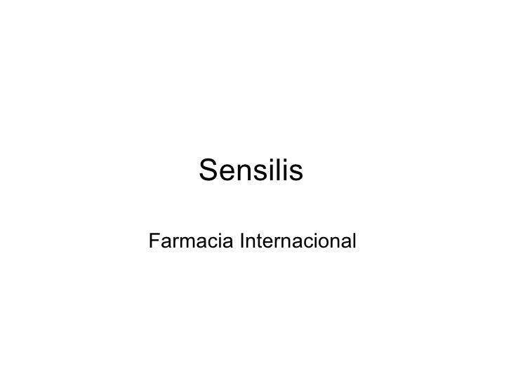 Sensilis Farmacia Internacional