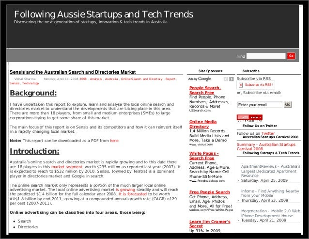 Following Aussie Startups and Tech Trends  Discovering the next generation of startups, innovation & tech trends in Austra...