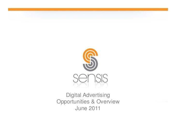 Digital AdvertisingOpportunities & Overview       June 2011