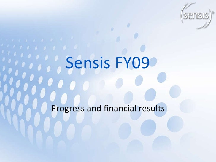 Sensis FY09 Progress and financial results