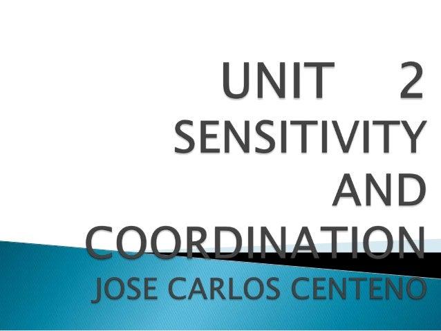 Sensitivity and Coordination by José Carlos