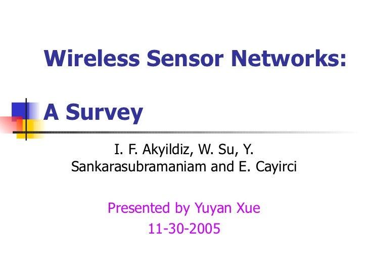 Sensor networks a survey