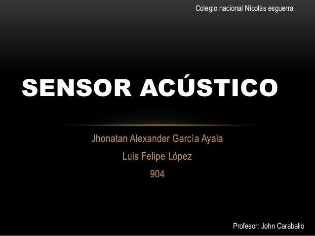 Sensor acústico nxt