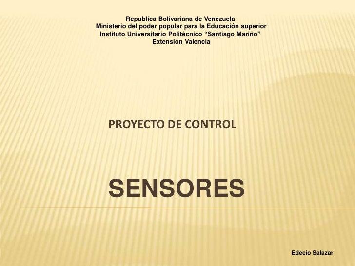Republica Bolivariana de VenezuelaMinisterio del poder popular para la Educación superior Instituto Universitario Politécn...