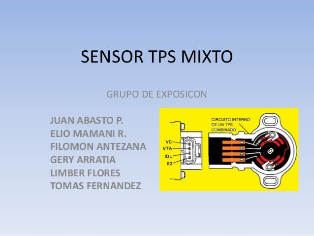 SENSOR TPS MIXTO GRUPO DE EXPOSICON JUAN ABASTO P. ELIO MAMANI R. FILOMON ANTEZANA GERY ARRATIA LIMBER FLORES TOMAS FERNAN...