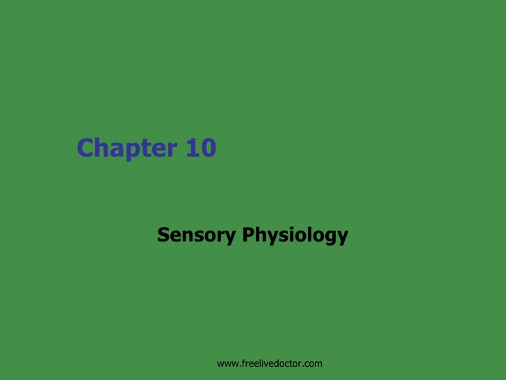 Chapter 10 Sensory Physiology www.freelivedoctor.com