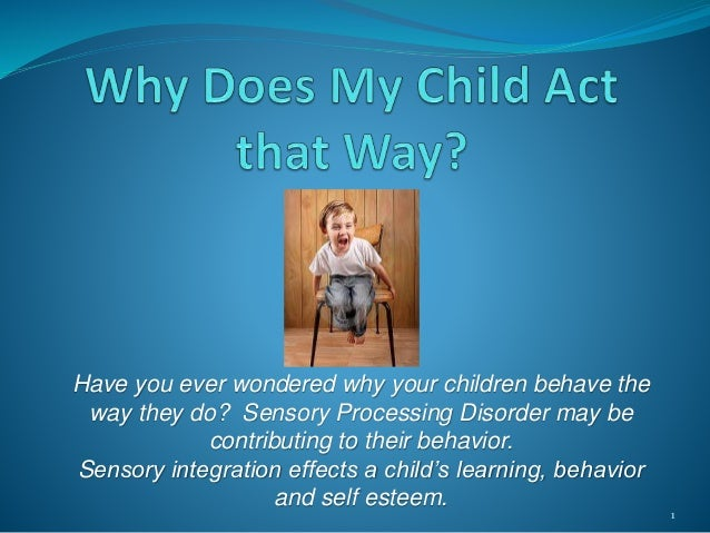 Sensory power point why does my child act that way