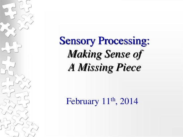 Sensory Processing - Making Sense of the Missing Piece - Melissa Bianchini