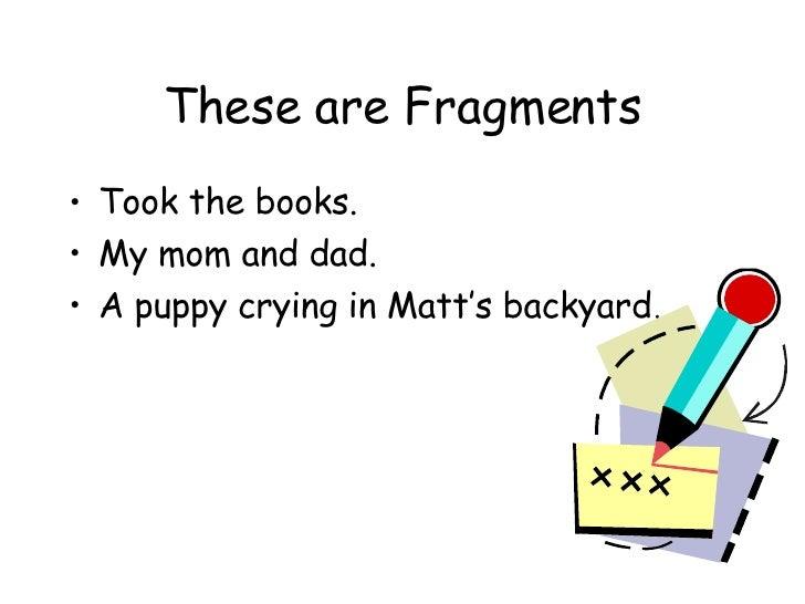 Fragments and run ons worksheets