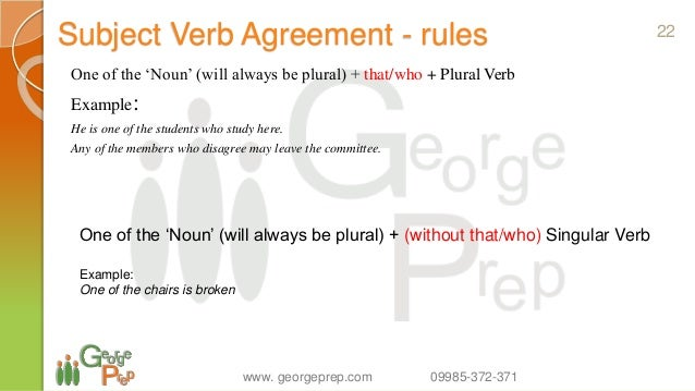23 rules in subject verb agreement Essential grammar skills 1 subject-verb disagreement 2  these rules will help you to check whether a verb  23 there (is/are.