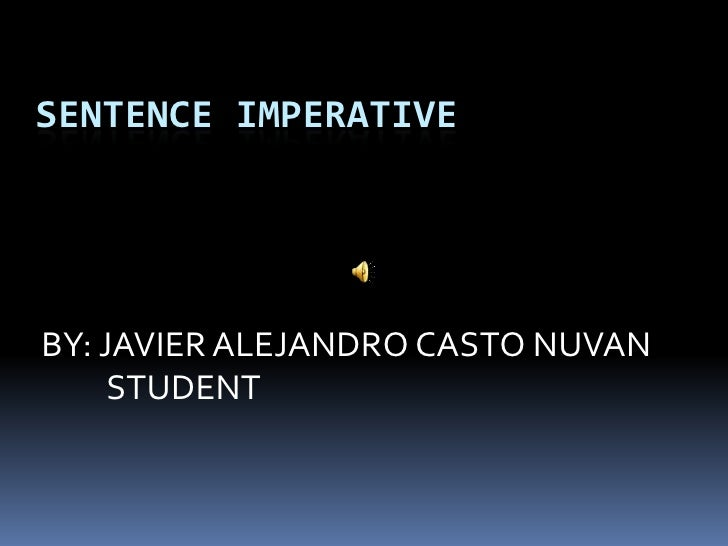 2 English imperative sentences