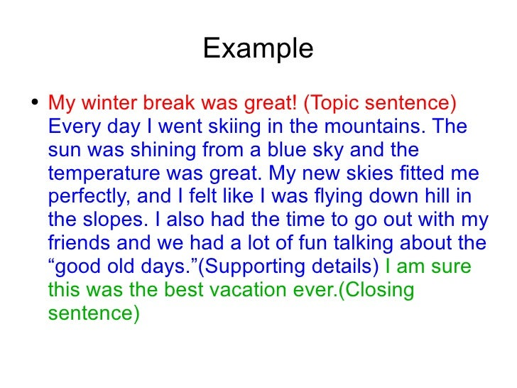 Winter Break Essay - Essays World X_X