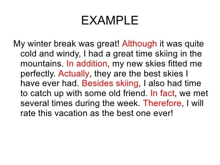Essay Link Paragraphs