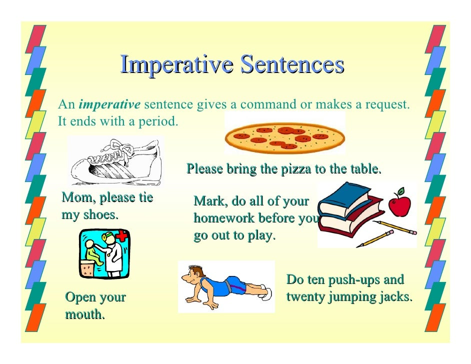 What does imperative mean? I need to know it for grammar!! | Socratic