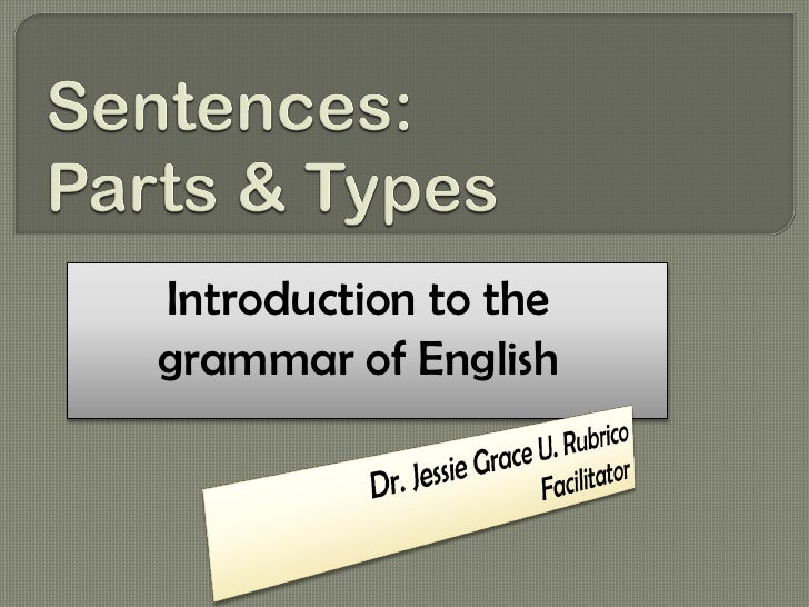 Introduction to thegrammar of English