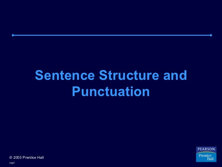 Sentence struct punct