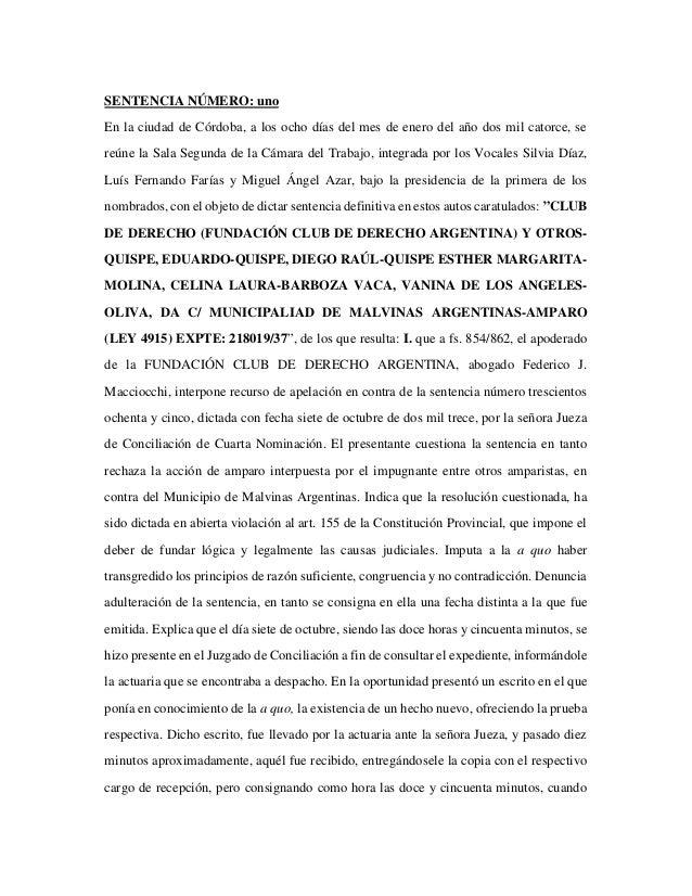 Fallo de la Justicia que frena la construcción de Monsanto en Malvinas Argentinas