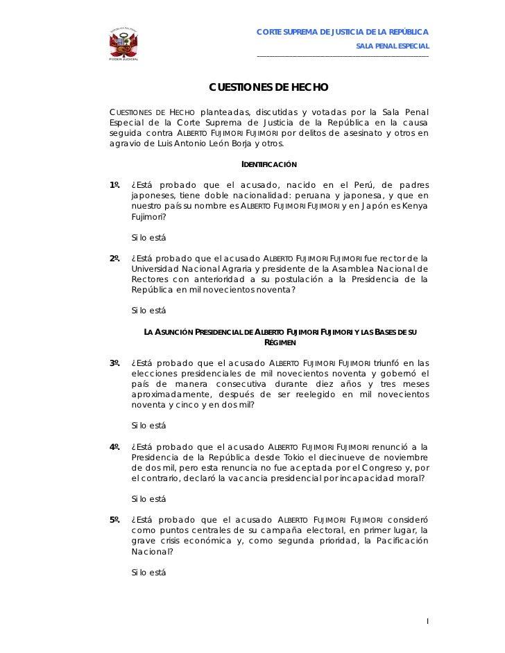 CORTE SUPREMA DE JUSTICIA DE LA REPÚBLICA                                                                              SAL...
