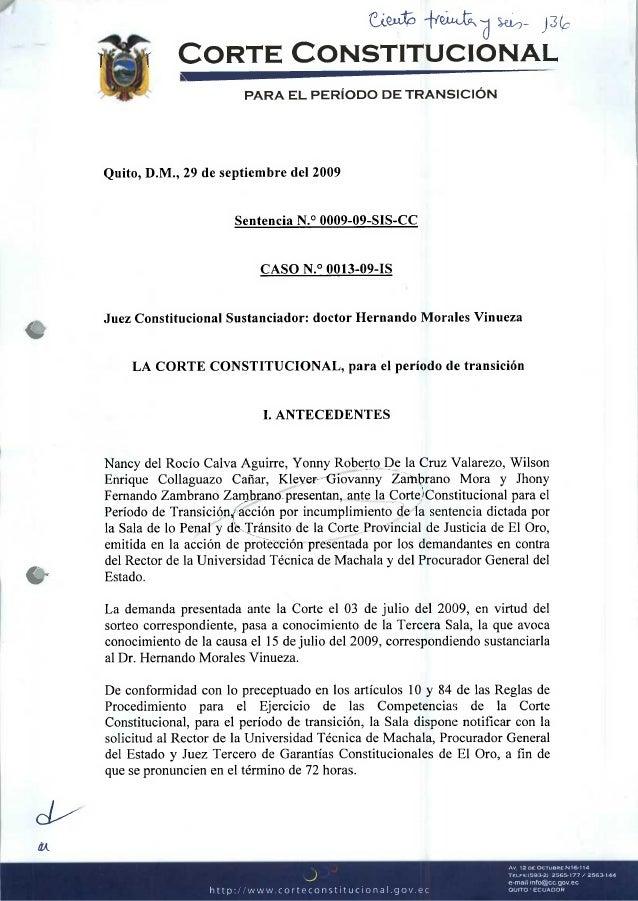 Sentencia Corte Constitucional 2009