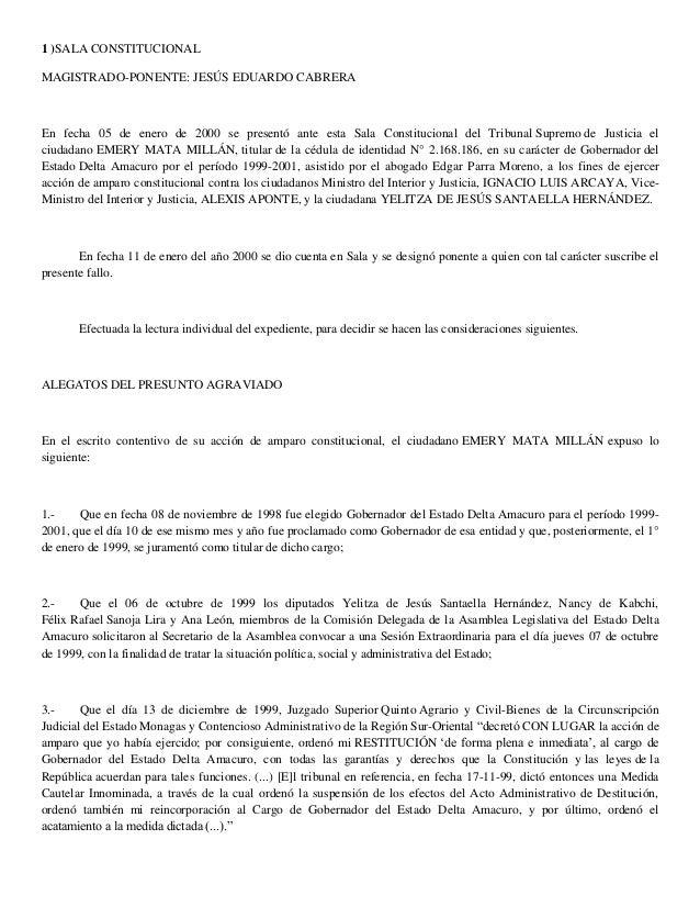 Sentencias (caso emery mata millán y caso josé mejía betancourt)