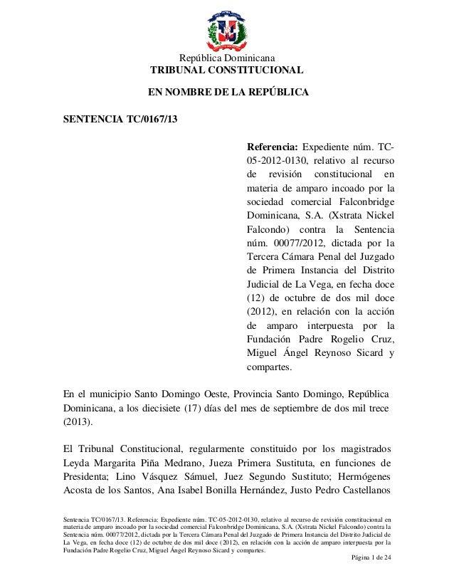 tribunal constitucional sentencia:
