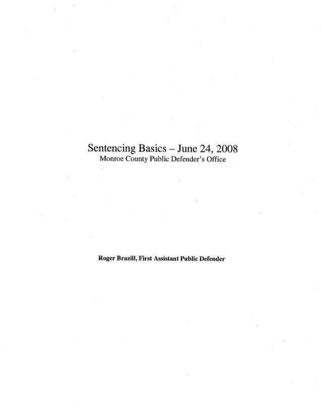 Sentencing basics 6_24_08