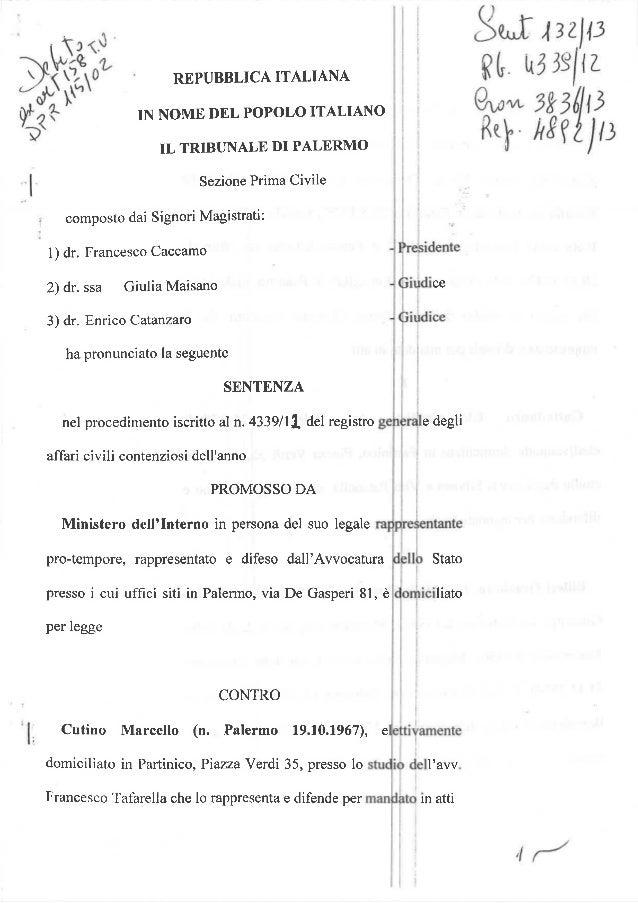 Sentenza incadidabilita sentenza n 132 2013