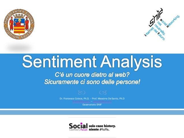 —                 –Dr. Francesco Colace, Ph.D. – Prof. Massimo De Santo, Ph.D            fcolace@unisa.it – desanto@unis...