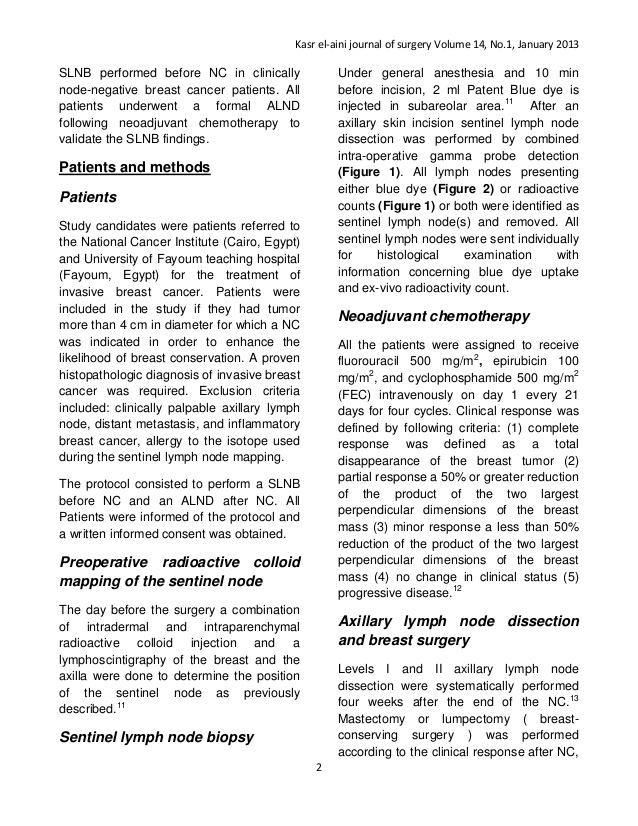 Sentinel-Lymphknoten-Biopsie - National Cancer Institute | Medizin ...