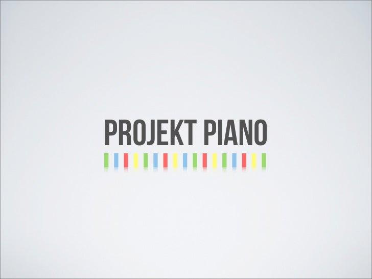 Projekt Piano