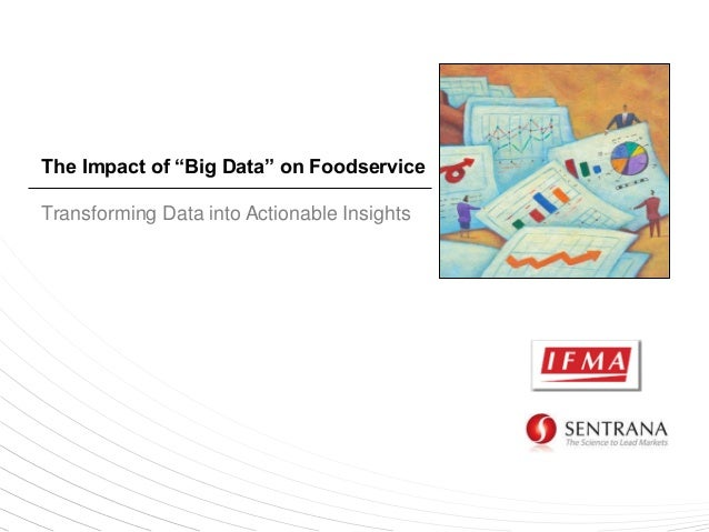 """The Impact of """"Big Data"""" on Foodservice Transforming Data into Actionable Insights"""