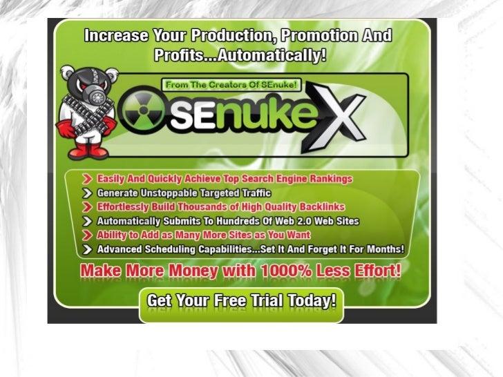 Senuke x free trial