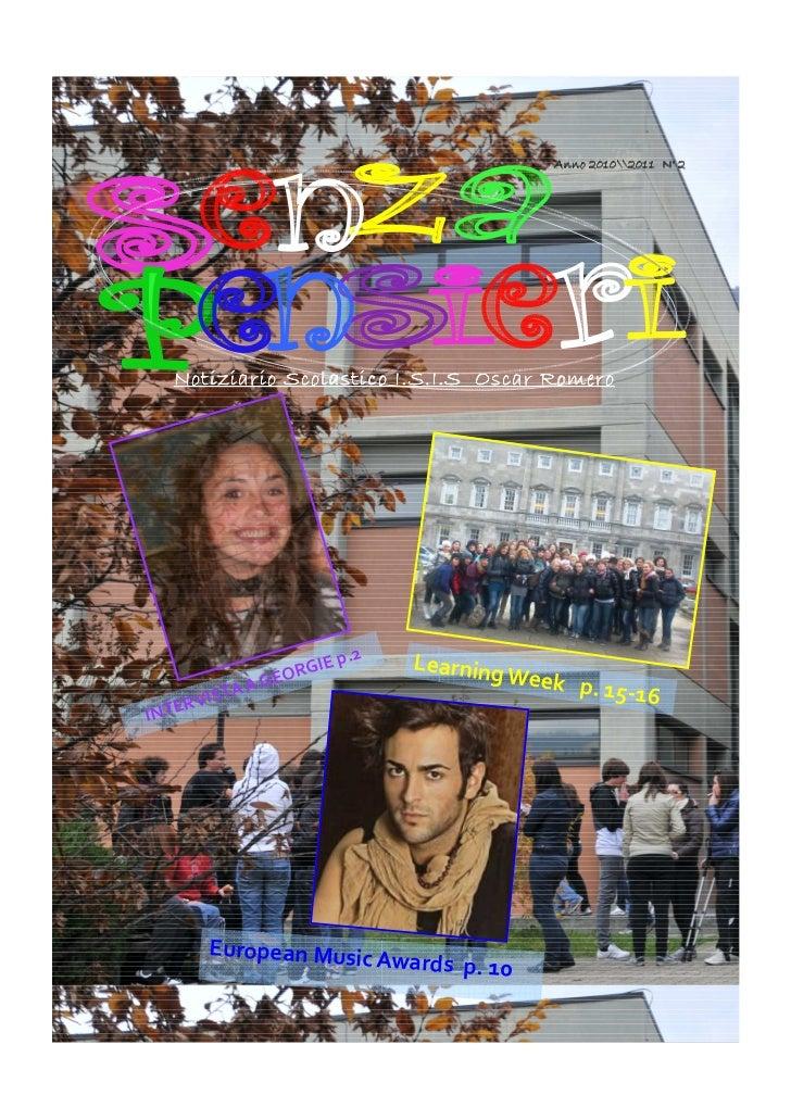 Anno 20102011 N° 2  Notiziario Scolastico I.S.I.S Oscar Romero                           p.2   Learning                   ...