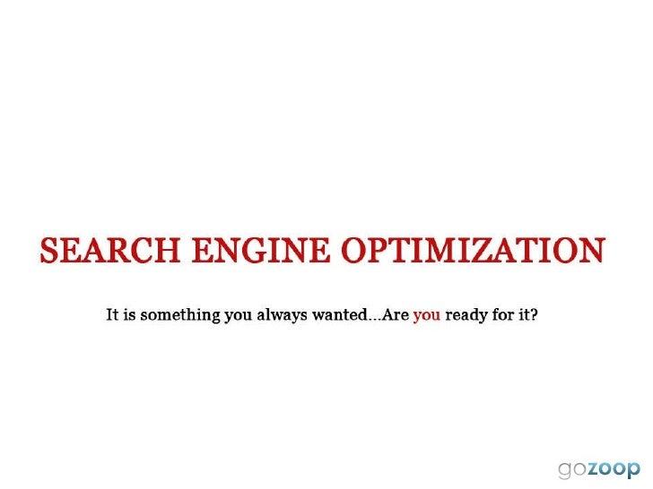 Search Engine Optimization - Gozoop.com