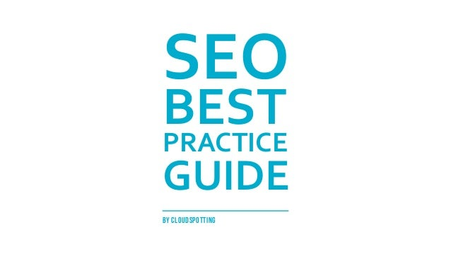 Seo Best Practice Guide: Alternative Version