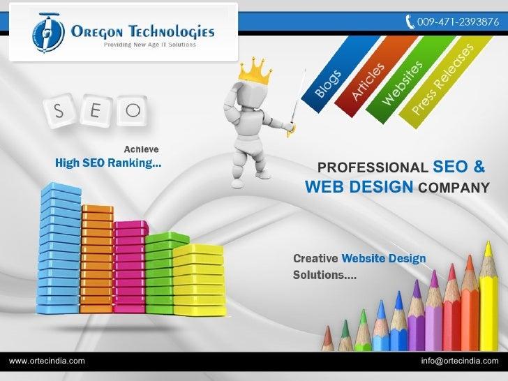 Professional SEO and Web Design Company India