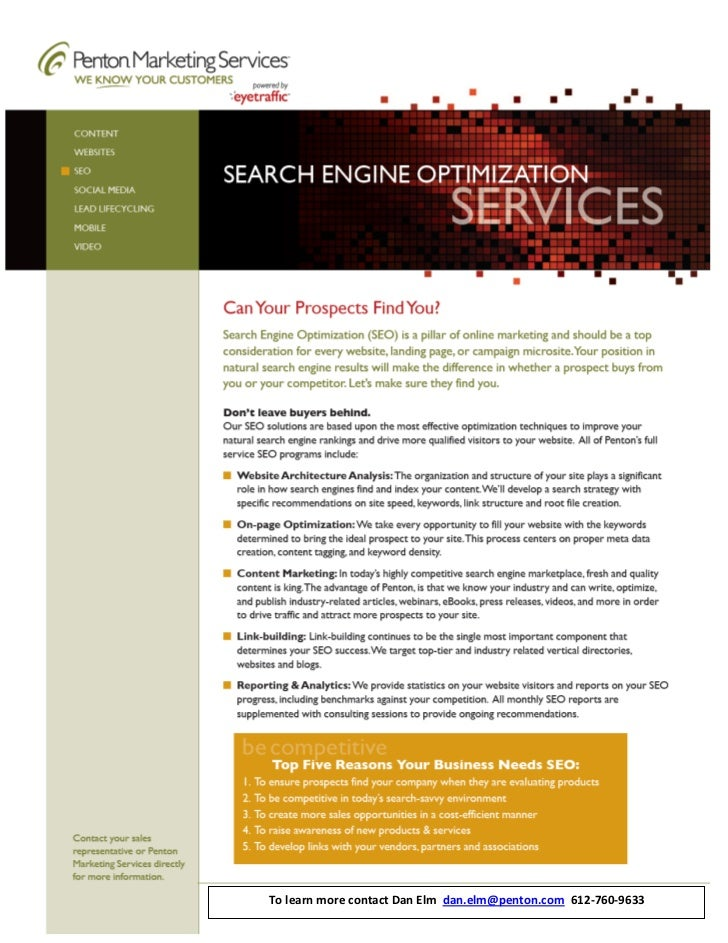 SEO Dan Elm Penton Marketing Services