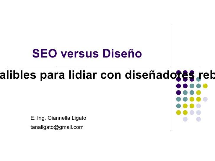 SEO versus Diseño