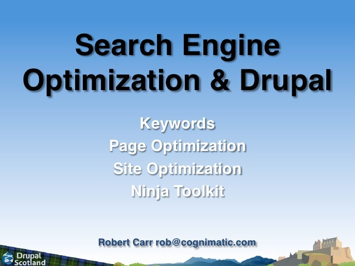 Search Engine Optimization & Drupal