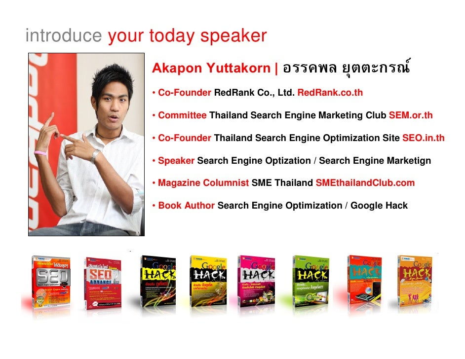 introduce your today speaker               Akapon Yuttakorn |                                       F               • Co-F...